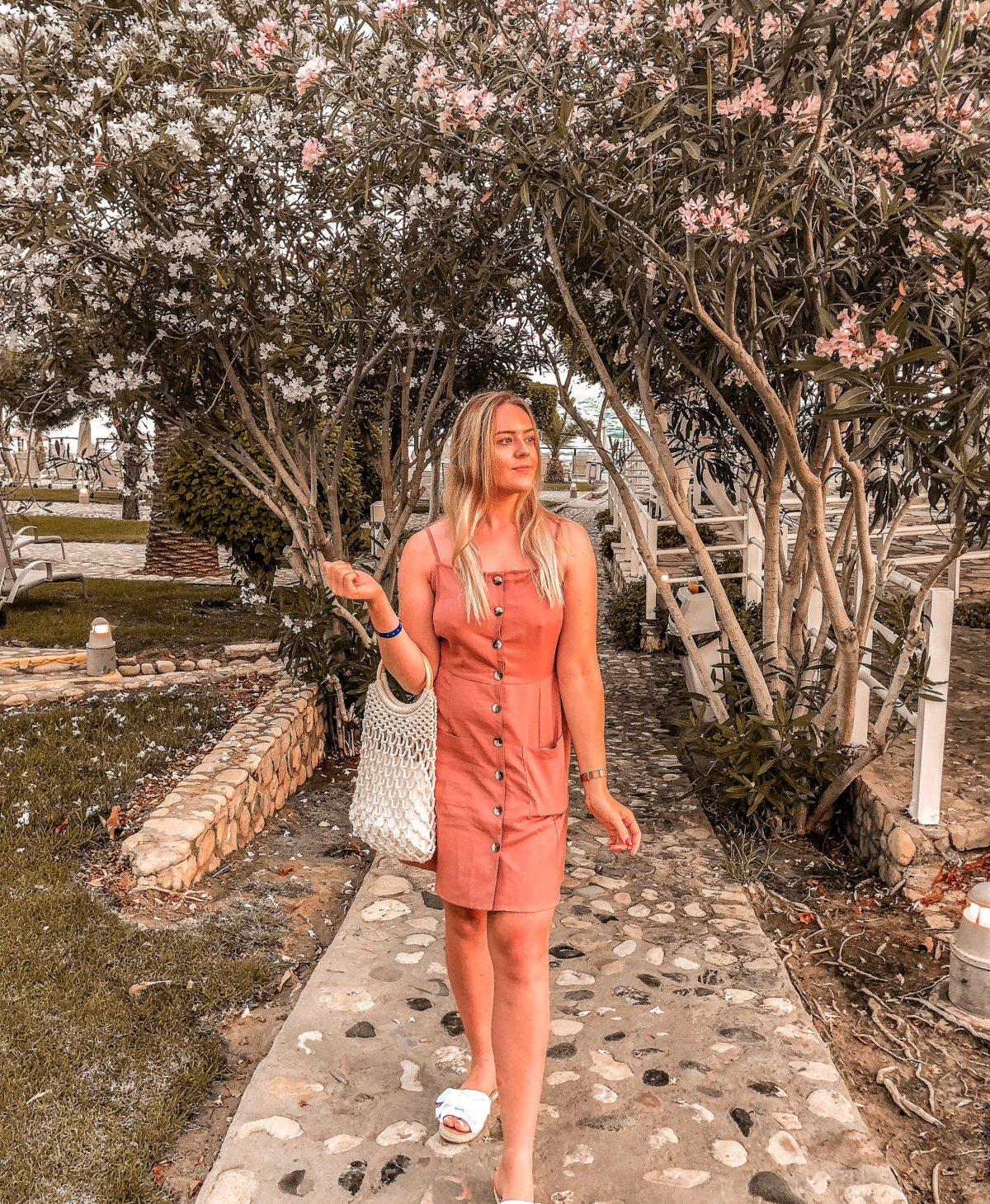 asos linen dress