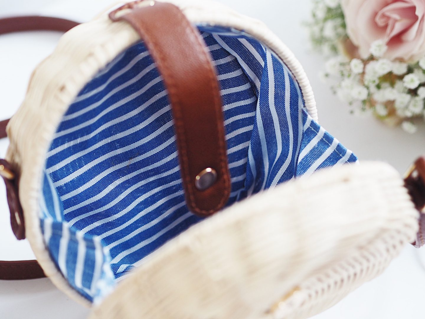 eBay round straw bag