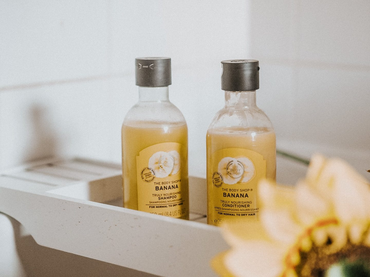 The Body Shop Banana Shampoo and Conditioner Review