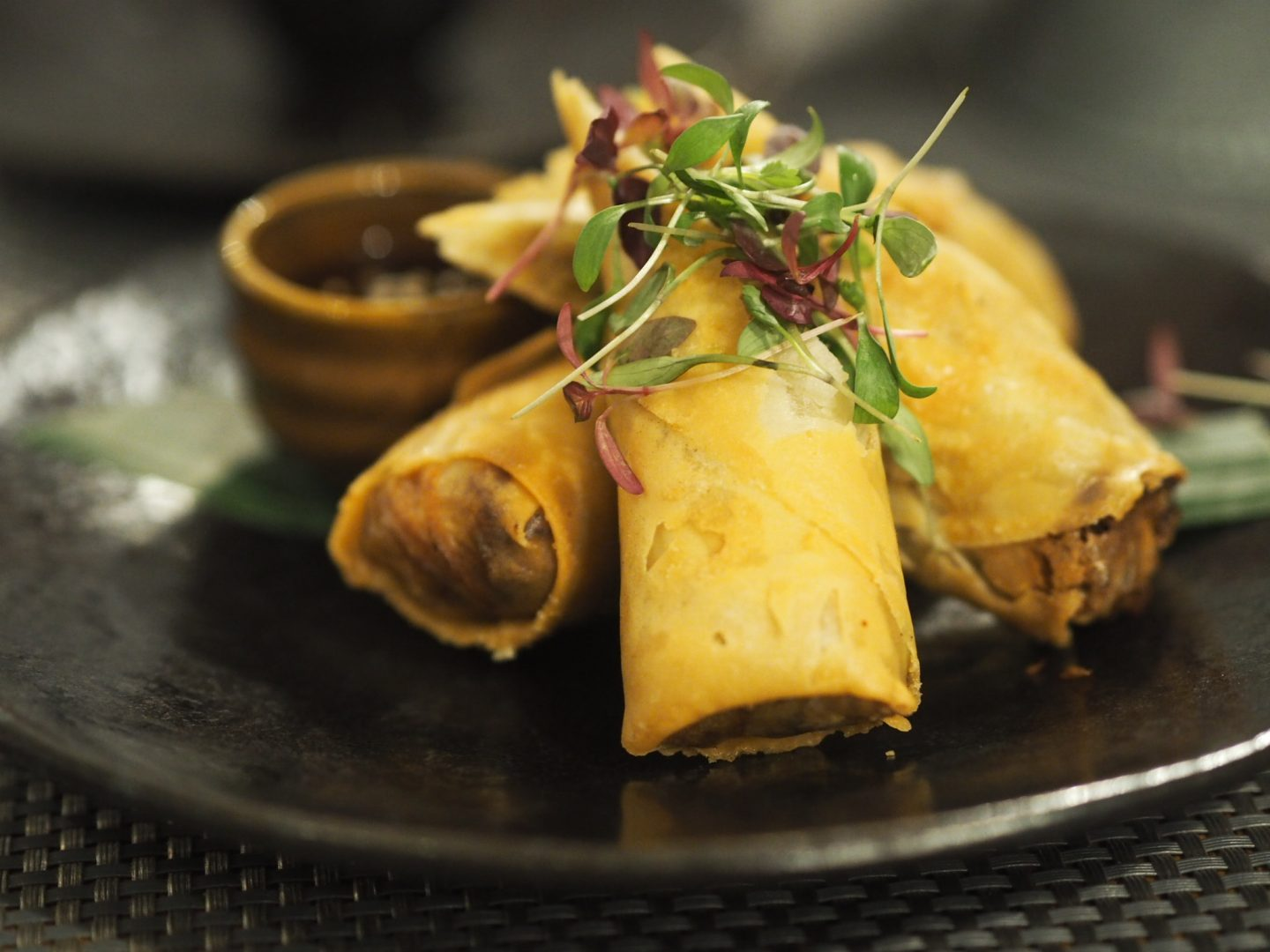 The Giggling Squid duck spring rolls